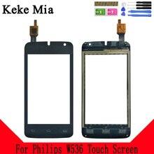 Keke Mia 4.0 Mobile Phone Touch Glass TouchScreen For Philips W536 Screen Digitizer Panel Lens Sensor