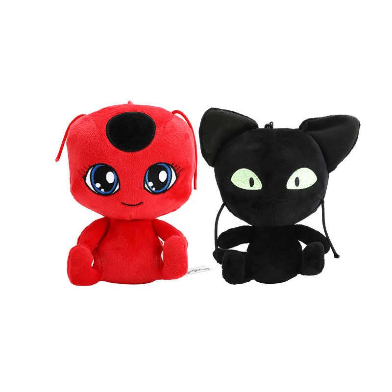 Kedi Noir Tikki yumuşak peluş oyuncaklar dolması Doll Lady bug kedi Cosplay çocuklar için oyuncaklar noel oyuncaklar