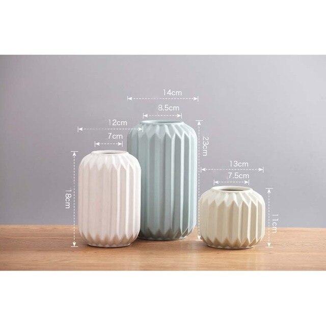 Modern Ceramic Vase Minimalist Creative Tabletop Vase Home Decoration Vase Fashion Modern European Style Geometric Flower Vase 2
