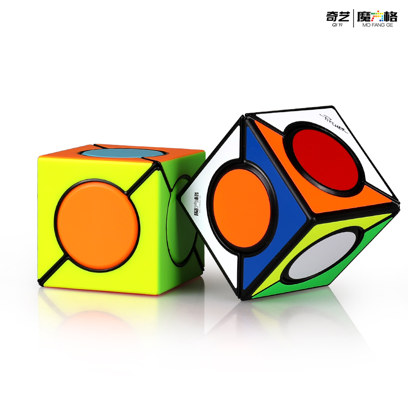 New QiYi Six Spot 3x3x3 Magic Cube Six Spot Neo Cube Frosted Surface Magic Cube Speed Puzzle Toys For Children