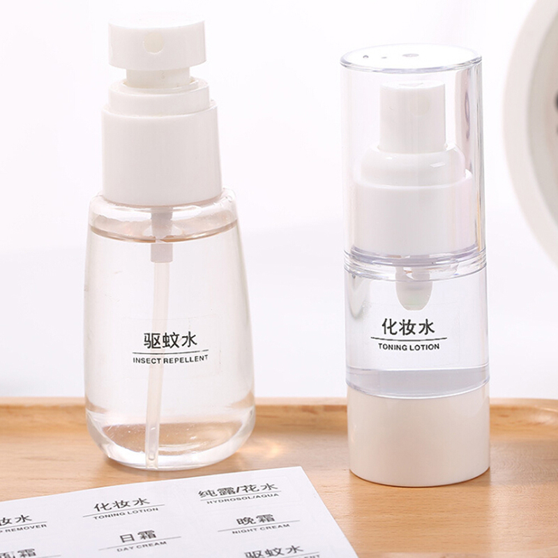 10 Sheets Clear Waterproof Paper Adhesive Label Stickers For Classifying Cosmetics Bottles Identification Accessory