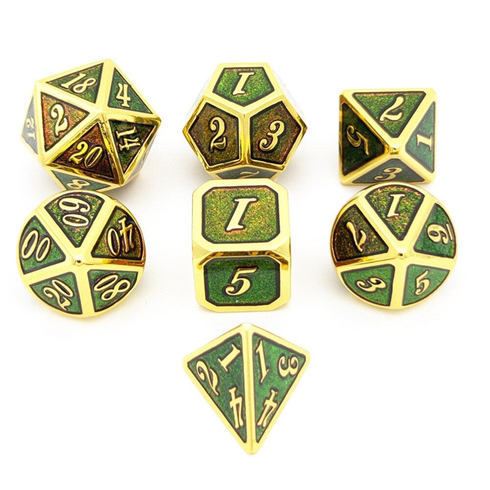 7 шт. многомерный кости цинка кубики из сплава развлечения, азартные игры в кости набор игровые аксессуары