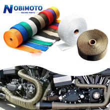 5cm*5M/10M/15M Roll Fiberglass Heat Shield Motorcycle Exhaust Header Pipe Heat Wrap Tape Thermal Protection Exhaust Pipe Insulat