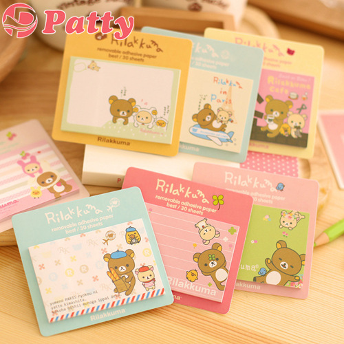 10 Pcs/Lot Rilakkuma Memo Pad Post Sticky Notes Removable Adhesive Paper Stationery Papelaria Material School Supplies F648