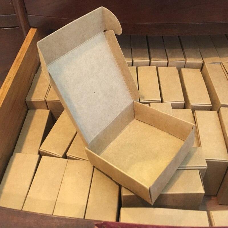 2020 Natürliche Kraft papier geschenk verpackung box, kleine handwerk box folding kraft papier, braun handgemachte seife papier karton box