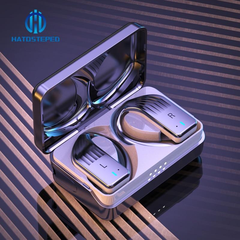 Silica Gel TWS Bluetooth Earphone 5.0 9D Stereo Wireless Headphones Touch Control IPX7 Waterproof Wireless Earphones