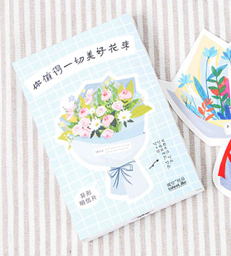 Nice Flower Paper Postcard(1pack=30pieces)