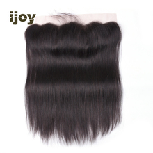 Frontal Closure 1B Bright Black Brazilian Straight 4x13 Lace Free/Middle Part With Baby Hair Remy IJOY