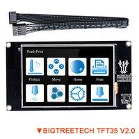 Bigtreetech tft35 v2.0 tela de toque inteligente 3.5 Polegada painel de cor completa para skr v1.3 pro mks gen l controll placa de impressora 3d screen base base 3d -