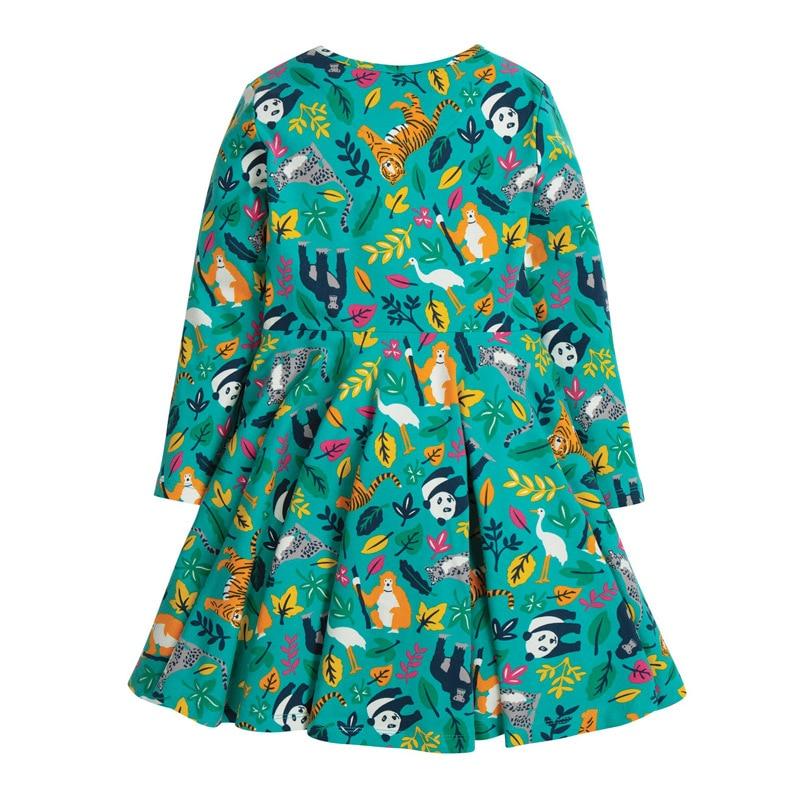Little maven Dress Girls Party Girl Dress Animal Tiger Monkey Christmas Dress for Baby Girls Long Sleeve Dress Cotton Kids Dress 3