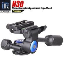 Cabezal de trípode profesional H30, 360 grados, amortiguación hidráulica de rotación suave, Mini Teléfono de aleación de aluminio tridimensional