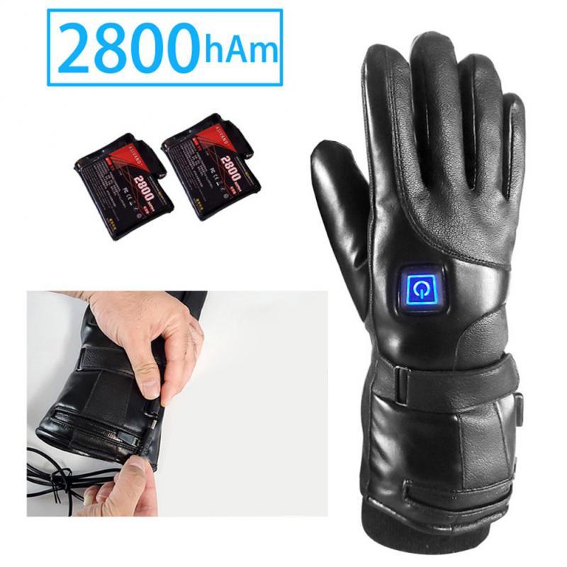 Men Women Ski Glove Adjust 3 Temperature Rechargeable Electric Warm Battery Powered Heat Gloves Winter For Climbing