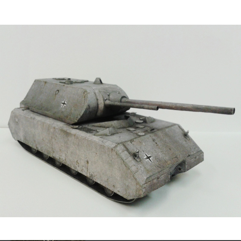 34*10cm Germany Tank Panzer VIII Maus DIY 3D Paper Card Model Building Sets Construction Toys Educational Toys Military Model