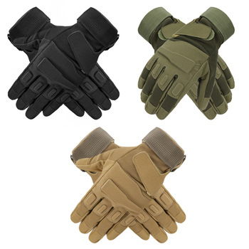 Military Outdoor Adventure Mountaineering Anti-Slip Sun Protection All-Finger Sports Riding Tactical Gloves 6