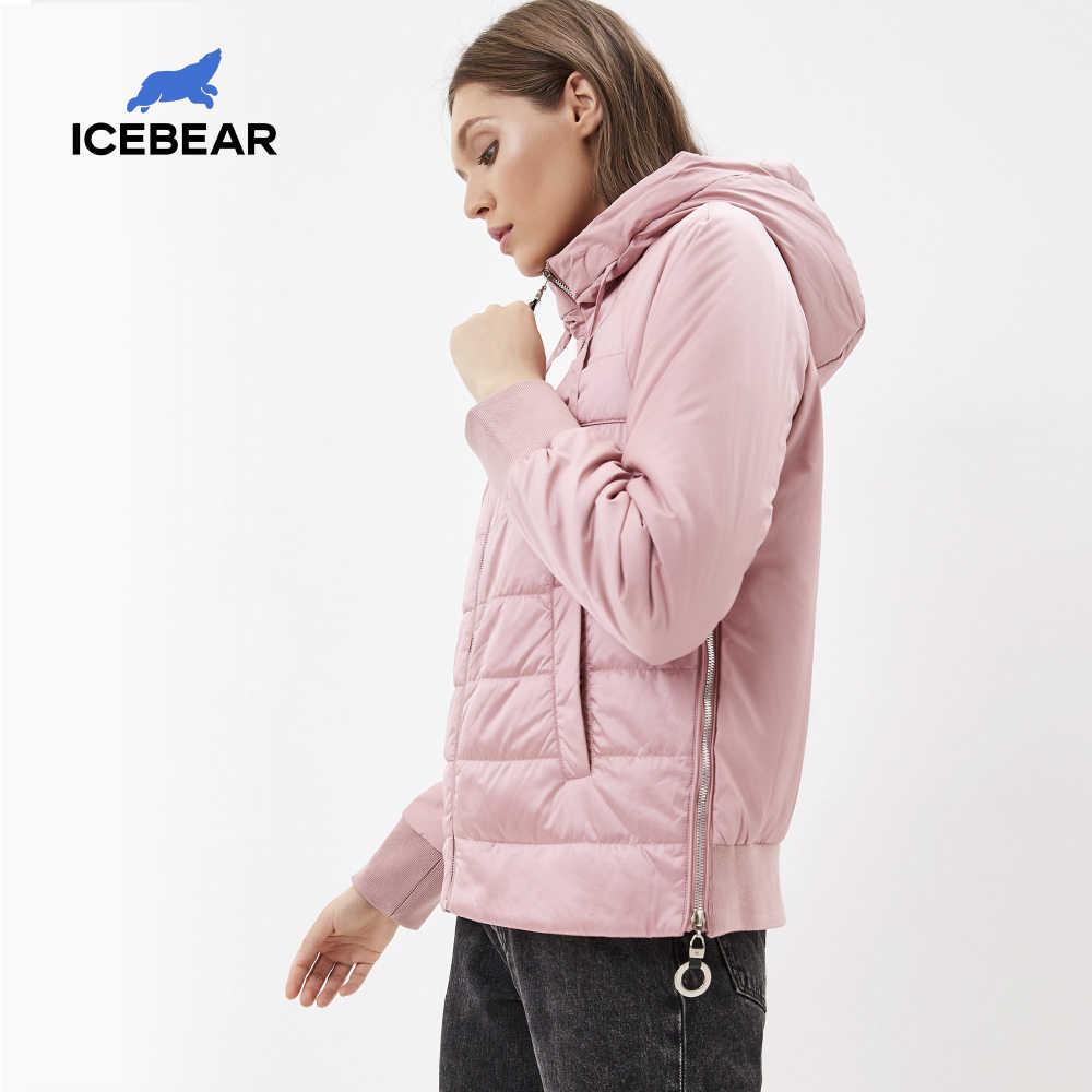 ICEbear 2020 새로운 여성의 봄 코트 브랜드 의류 짧은 코트와 모자 패션 여성 의류 GWC20070D
