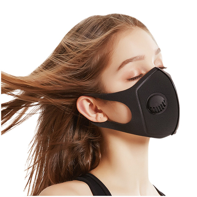1PC korean Anti Dust Mask PM2.5 Activated Filter Mouth Mask Reusable Cover Anti Fog Haze Respirator Windproof bacteria proof Flu 1