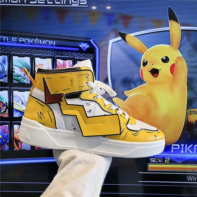 Pokemon Shoes Men's Pikachu Low-Top Pop