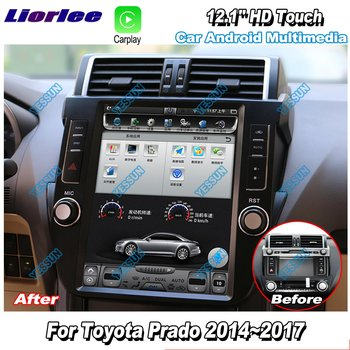 Liorlee For Toyota Prado 2014-2017 12.1'' HD Super Vertical Screen Car Radio Android Carplay GPS Navi maps Navigation no CD DVD фото
