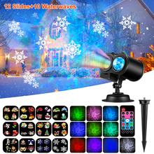 12 Patterns LED Disco Light Laser Projector Christmas Lights Outdoor Garden Party Lights Landscape Lamp Halloween Decorations цена