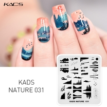 KADS Nail Art Template 35 Designs Nature Series Nail Art Stamp Stamping Image Template Manicure Stamping Plates Stencil Tools недорого