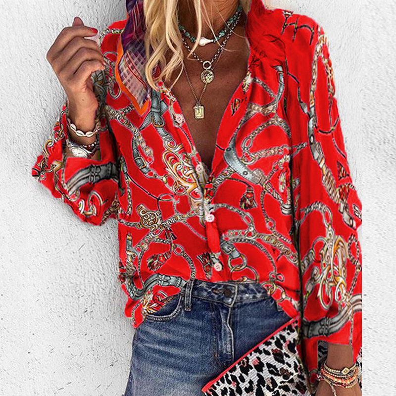 Весна-Осень 2020, женские блузки и рубашки, Элегантная блузка с длинным рукавом, рубашка, с v-образным вырезом, блузка, офисные рубашки, Blusas Camisa