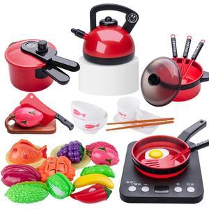Кухня игрушка Моделирование кухонная посуда для мальчиков и девочек игровой домик игрушка холодильник маленькая столовая посуда для девоч...