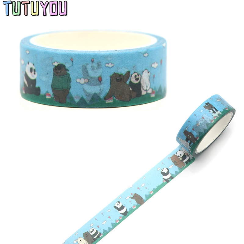 PC294 We Bare Bears Decorative Paper Washi Tape DIY Scrapbooking Masking Tapes School Office Supply