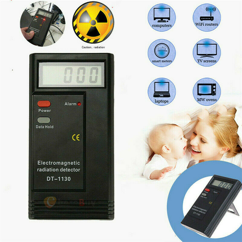 LCD Digital Electromagnetic Radiation Detector EMF Meter Dosimeter Tester UK