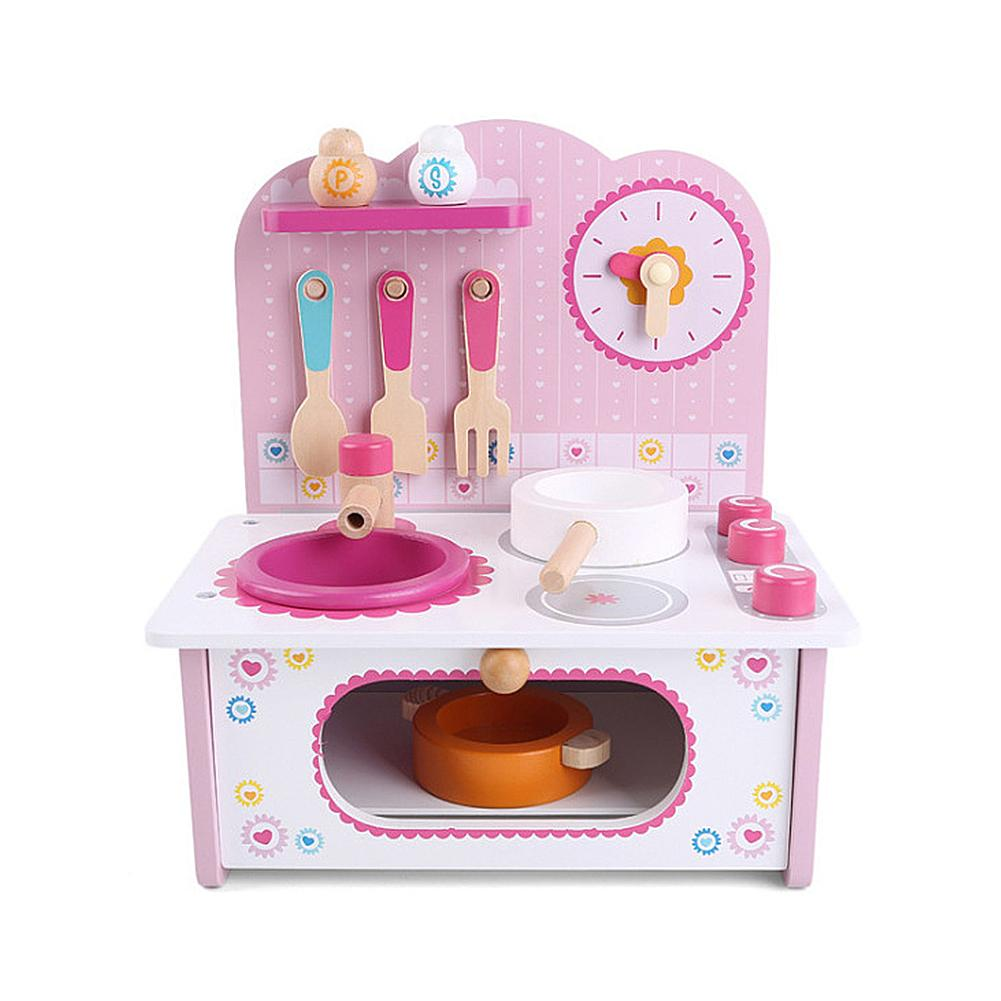 Wooden Kitchen Toy Set Children's Toys Mini Cooker Wooden Small Kitchen Toy Set Baby Play House Set Kitchen Cooking Toy Set Gift