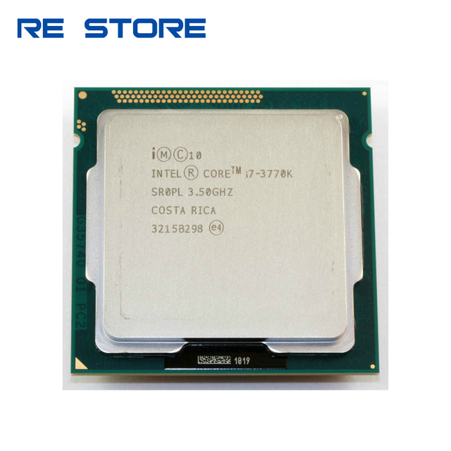 ใช้Intel Core i7 3770K Quad Core 3.5GHz 8MB Cache HDกราฟิก 4000 TDP 77Wเดสก์ท็อปLGA 1155 CPU Processor