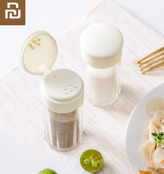 Youpin Spice Jar With Holes Salt MSG Seasoning Box Kitchen Jar Home Transparency Spreading Bottle Kitchen Bottling