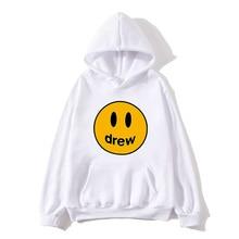 NEW Fashion Hoodie Men Justin Bieber The Drew House Smile Face Print Women Men Hoodies