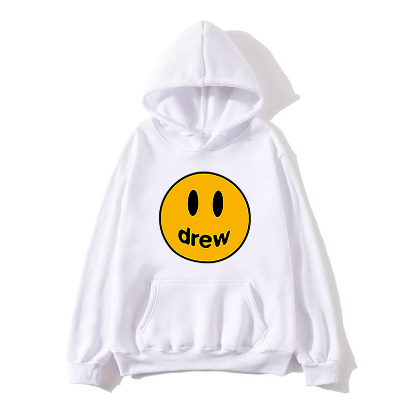 NEW Fashion Hoodie Men Justin Bieber The Drew House Smile Face Print Women Men Hoodies Sweatshirts Hip Hop Pullover Winter Fleec