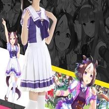 Anime uma musume: bonito derby cosplay trajes tokai teio cosplay traje festa de halloween feminino jogo cosplay traje