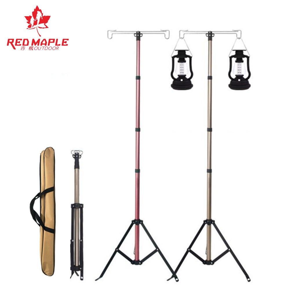 Export South Korea Rough Strengthen 4-Section Telescopic Ultra-Light Portable Outdoor Camping Holder Lamp Bracket Hanging Tripod