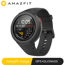 Global Version Huami Amazfit Verge Sport Smartwatch GPS Bluetooth Music Play Call Answer Smart Message Push Heart Rate Monitor [english version] new original huami amazfit pace sport smart watch smartwatch bluetooth wifi 1 2ghz 512mb 4gb gps heart rate