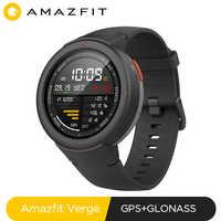 Globalna wersja Huami Amazfit Verge smartwatch sportowy GPS muzyka bluetooth odtwarzanie połączenia odpowiedź inteligentna wiadomość Push pulsometr