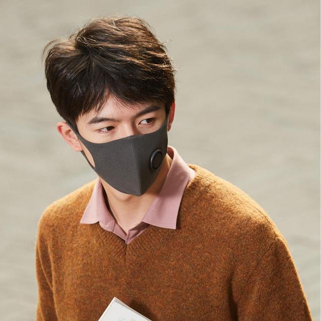 Xiaomi SmartMi Black PM2.5 Mouth Mask Anti Pollutio Dust Mask Bacteria Proof Flu Face Masks Filter Respirator with Breath Valve 3