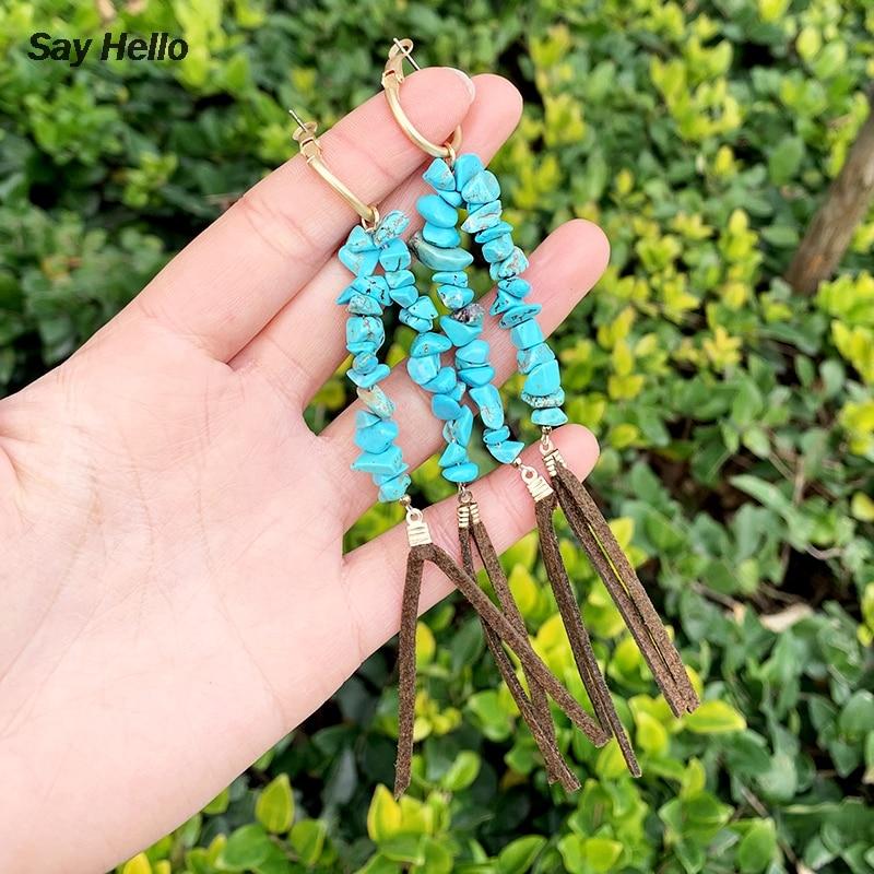 appr\u00eats bronze Cristaux Boh\u00e8me Lapis-Lazuli et Turquoise marbr\u00e9e Mood Indigo Boucles d/'oreilles Art-D\u00e9co
