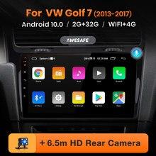 AWESAFE PX9 pour VW Golf 7 2013 2014 2015 Golf7 autoradio multimédia lecteur vidéo GPS No 2 din Android 10.0 2GB + 32GB
