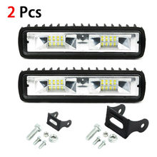 2pcs 18W Light Bar/Work Light Spotlight Car LED Light Bar for Truck Driving Jeep Offroad Boat Car SUV ATV Driving Fog Lamp(China)
