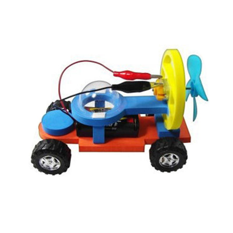 Wind Power Electric Racing Model Kit Toys For Boys Science Training Child Experiment Handmade Assembly Physics Toy Gifts For Kid