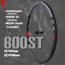 Комплект колес Flyweight для горного велосипеда 29er, 15*110, 12*148, 27 Дюймов, 30 мм, XC ширина, карбоновые безкрюковые повышающие колеса