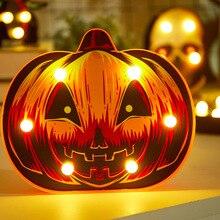 Украшения на Хэллоуин, рождественские украшения для дома, сказочные огни, гирлянда тыквы, теплые белые ночники спальня, лампа