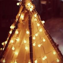 Батарея питание светодиод шар гирлянда фонари фея шнур водонепроницаемый открытый лампа рождество праздник свадьба вечеринка огни украшение