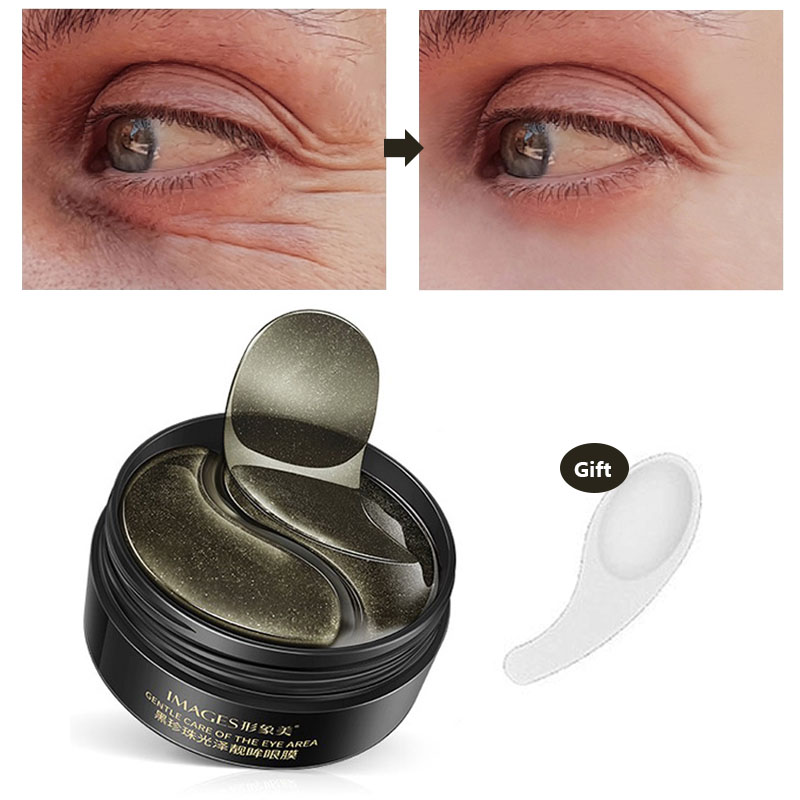Black Pearl Eye Mask Collagen Natural Moisturizing Gel Eyes Patches Remove Dark Circles Anti Age For Wrinkle 60 PCS Skin Care D