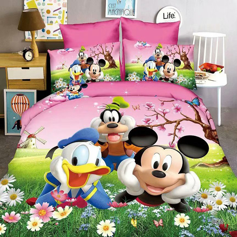 Disney Donald Duck Mickey Sofia Baby Bedding Set Kids Single Twin Full Duvet Cover Pillowcase For Boys Girls Children Gift