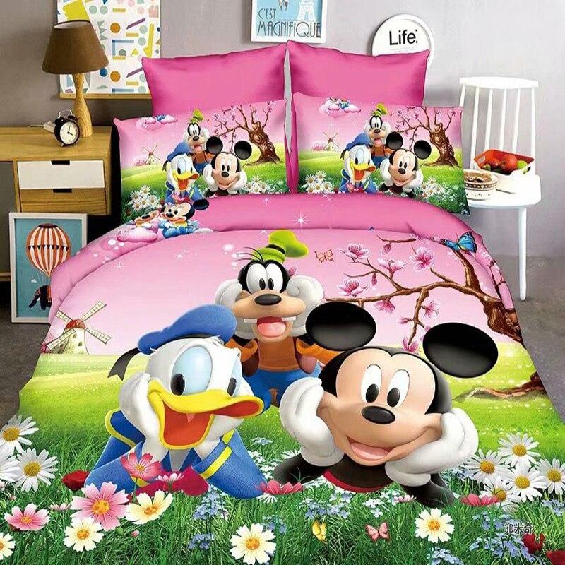 Disney Donald Duck Mickey Sofia Baby Bedding Set Kids Single Twin Full Duvet Cover Pillowcase For Boys Girls Children Gift