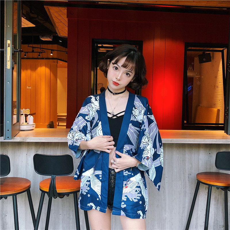 Japanese Costume Japanese Kimono Clothing Arrival Tops Japanese Kimono Traditional Casual Loose Beach Kimono Cardigan