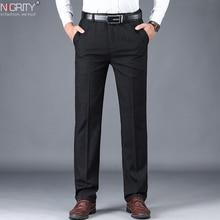 NIGRITY 2019 Autumn Winter Mens Suit Pants Straight Trousers High Quality Fashion Men Classic Business Dress Pant 3 Colors